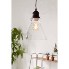 Simple Cone Pendant Light ($30) ❤ liked on Polyvore