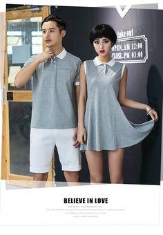 Couple Set: Polo Shirt / Polo Shirtdress - LOVE KINGDOM | YESSTYLE