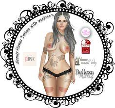 Beauty Flower Tattoo  Second Life