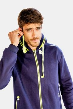 Mens Blue Jacket with Green Drawstrings, Alanic Activewear Jackets Online, Hooded Jacket, Active Wear, Men Clothes, Workout, Hoodies, Fitness, Green, Blue