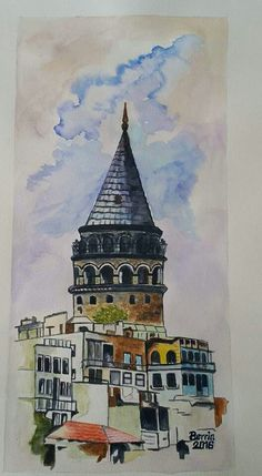 Berrin Temel-Turkish Artist - watercolor