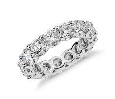 U-Prong Diamond Eternity Ring in Platinum | #Wedding #Ring #Jewelry