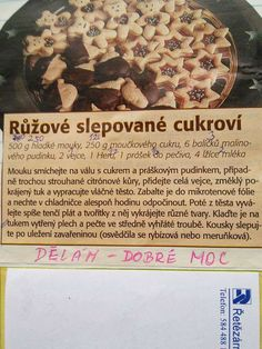 Czech Recipes, Christmas Cookies, Anna, Bread, Baking, Sweet, Desserts, Food, Xmas Cookies