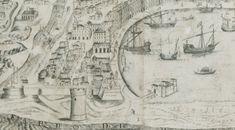 Il Piano di Terranova nel particolare di una mappa del XVI secolo Messina, Vintage World Maps, Newfoundland, Fotografia