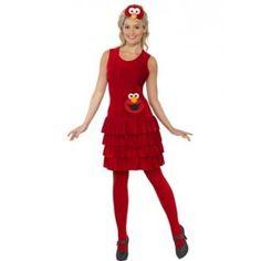 Ladies Sesame Street Elmo Costume - £28.99