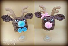 ALL SIZES Reindeer Beanie by EternalLightShop on Etsy, $22.00