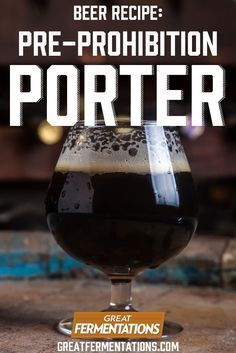 Autumn is a PERFECT time for a porter, and this is a throwback version: Volstead's Folly Pre-Prohibition Porter Recipe!