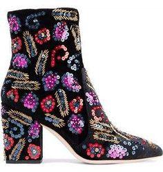643b7eb98136 17 Best Velvet Ankle Boots images