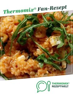 Risotto with feta and arugula from A Thermomix ® recipe from the category . - Risotto with feta and arugula from A Thermomix ® recipe from the main course with vegetable - Meat Recipes, Vegetarian Recipes, Dinner Recipes, Healthy Recipes, Vegetarian Diets, Easy Meals, Veggies, Stuffed Peppers, Feta