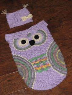 FREE CROCHET PATTERN - Creative Crochet by Becky: Crochet Baby Owl Cocoon with Hat in Newborn and 3-6 Month Sizes