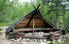 A campfire shelter near Yrjö Kokko birdwatching tower. Photo: Maarit Kyöstilä