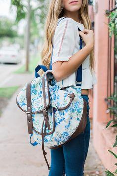 Floral backpack. PC: /kdaklovesjhb/