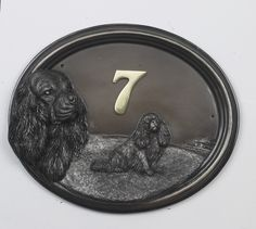House Sign - Cavalier King Charles Spaniel - Bronze Finish    Black Country Metal Works