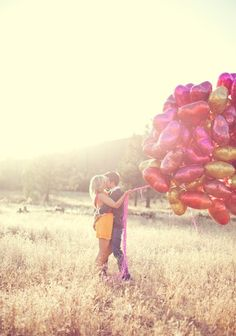 Love the lighting, the colors, and the balloons