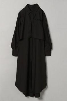 レイヤーロングシャツワンピース|[公式]ジーナシス (JEANASIS)通販 Duster Coat, High Neck Dress, Jackets, Vintage, Black, Dresses, Fashion, Turtleneck Dress, Down Jackets