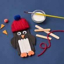 Paint Stick Crafts, Popsicle Stick Christmas Crafts, Popsicle Crafts, Popsicle Sticks, Winter Crafts For Kids, Diy Crafts For Kids, Christmas Crafts For Kindergarteners, Craft Ideas, Winter Kids