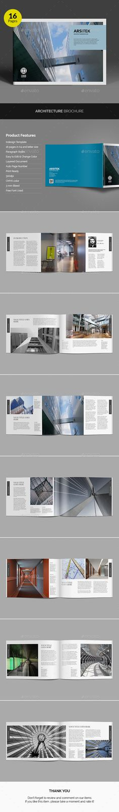 Architecture Brochure Template InDesign INDD. Download here: https://graphicriver.net/item/architecture-brochure/17191327?ref=ksioks
