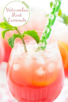 2 reviews · 20 minutes · Gluten free · Serves 12 · This Watermelon Mint Lemonade is refreshing, delicious, easy and make-ahead and perfect for a hot summer day! #watermelonmintlemonade #homemadelemonade #summerdrinks Spiked Watermelon, Watermelon Mint Lemonade, Mint Mojito, Summertime Drinks, Refreshing Summer Drinks, All You Need Is, Homemade Lemonade Recipes, Mint Simple Syrup, Summer Drink Recipes