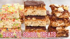 Make 3 incredible No Bake Rice Krispies Treats perfect for back to school lunches and after school snacks. Try my Snicker's, Smore's and Funfetti flavors! Rice Krispy Treats Recipe, Rice Crispy Treats, Krispie Treats, No Bake Granola Bars, Homemade Granola Bars, Rice Krispies, Bigger Bolder Baking, Jenny Cookies, Baked Rice