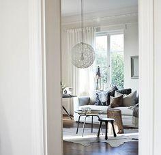 Daniella Witte {white scandinavian eclectic modern living room}
