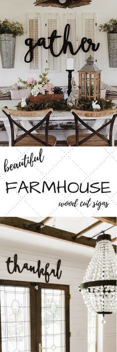 Feather and Birch Shop {Etsy} || These words are perfect for your mantel, kitchen, living room, or on your porch or patio. Stained, painted or unfinished for a wonderful look. GORGEOUS signs, perfect for any home. Farmhouse signs, farmhouse home decor, farmhouse style, farmhouse dining room.