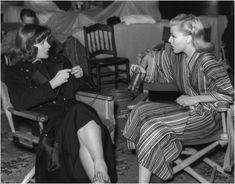 Kate Hepburn (knitting) and Ginger Rogers