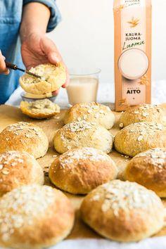 Finnish Recipes, Pretzel Bites, Bread Recipes, Rolls, Food And Drink, Fish, Baking, Breakfast, Bakken