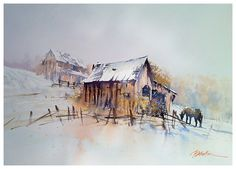 Thomas W. Schaller - new year's day - ohio- Watercolor - Painting ...