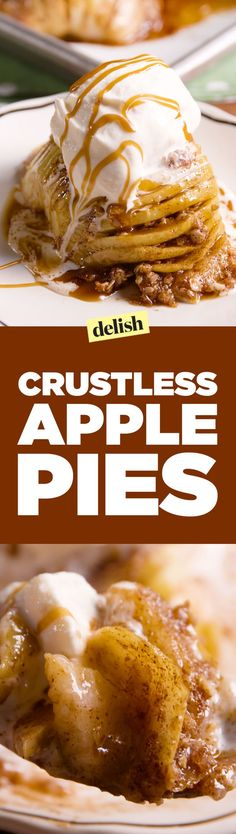 Crustless Apple Pies Only Give You The Best Part Of The Pie use coconut sugar, ghee and coconut ice cream