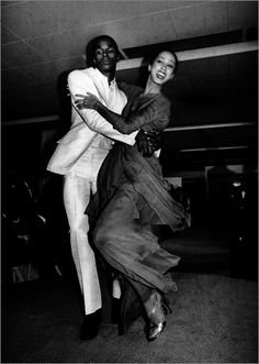 Pat cleveland wearing Halston, dancing w/ sterling st. jacques. This is the most fabulous thing!