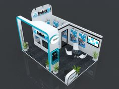 Exhibition Booth 3Ds Max Model | 6 mtr x 4 mtr | 3 side open  Free Download 3Ds Max File: http://www.proarch3d.com/exhibition-stall-3d-model-6-mtr-x-4-mtr-3-side-open/