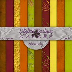 Autumn Paisley Digital Paper Pack
