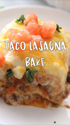 This lasagna taco bake is delicious! Your family will love it. Easy dinner idea for kids. Taco Lasagna Bake Recipe – This lasagna taco bake is delicious! Your family will love it. Mexican Food Recipes, New Recipes, Favorite Recipes, Dessert Recipes, Easter Recipes, Healthy Desserts, Health Recipes, Mexican Dishes, Easy Fast Recipes