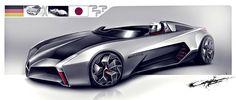 "A Very peculiar ""Mashup"" between Mercedes McLaren and Mach from Speed Racer. Car Design Sketch, Car Sketch, Mercedes World, Futuristic Cars, Transportation Design, Automotive Design, Concept Cars, Corvette, Cars And Motorcycles"