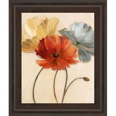 Poppy Palette I Canvas Wall Art by Nan living room art Diy Painting, Painting Frames, Painting Prints, Canvas Art Prints, Framed Art Prints, Wall Art Prints, Canvas Frame, Canvas Wall Art, Flower Art