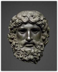 Roman Bronze Head of Jupiter -  0 AD - 100 AD.    Kunsthistorisches Museum Wien