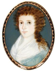 1801   Mary Watson.   By Pierre Henri.   Watercolor on ivory   Gibbes Museum