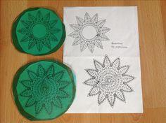 Sonnenblume Napkins, Lace, Sunflowers, Christmas, Towels, Dinner Napkins