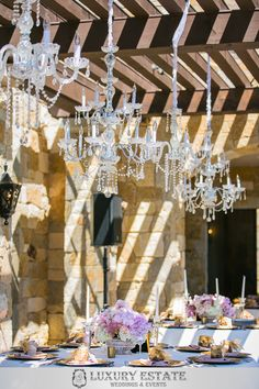 Pink and gold centerpieces | Wedding Planning & Design by Luxury Estate Weddings & Events | luxuryestateweddings.com