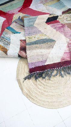Vintage Moroccan Kilim BOUCHEROUITE Rug soft por lacasadecoto