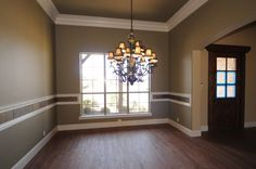 slate chair rail White Oak Kitchen, Dark Ceiling, Faux Wainscoting, Wall Molding, Moldings And Trim, Little Houses, Home Lighting, My Dream Home, Home Projects