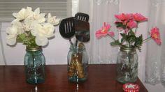 Vintage Two  Qt. Atlas Strong Shoulder Mason Jars & 1  Ball Jar