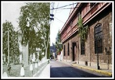 Calle Real del Palacio (General Luna Street) then and now photo SEE MORE: http://www.filipiknow.net/then-and-now-photos-of-manila/