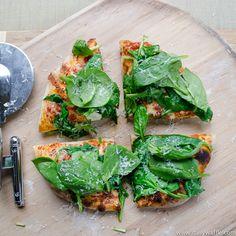 #pizza spinaci  | dailywaffle #vegetarian