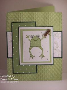 """froggie! **** Stamp set: SU """"Unfrogettable"""", retired."""