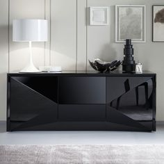 Shop the best in modern living. Choose the contemporary furniture from over sofas, desks, beds, chairs, + more from top designer brands. Home Decor Furniture, Luxury Furniture, Furniture Design, Modern Bedroom Design, Home Room Design, Modern Buffets And Sideboards, Black Buffet, Black Sideboard, Home Entrance Decor