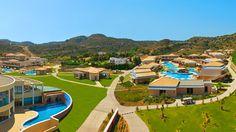 Uusi, korkeatasoinen La Marquise -hotelli koostuu päärakennuksesta ja useista 2-kerroksisista sivurakennuksista. Laguunimainen uima-allas kiertää sivurakennuksia varmistaen lyhyen matkan uimaan. #Faliraki #Rhodes