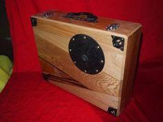 箪笥の金具を使用したアタッシュケース4 丸金具 黒柿