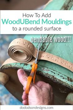Wood appliques for furniture that bend? They bend and can be molded to even a curved surface. Watch a step-by-step