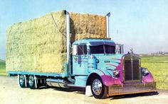 Haulin' Hay All Truck, Big Rig Trucks, Kenworth Trucks, Peterbilt, Country Trucks, Road Train, Show Trucks, Diesel Cars, Tractors